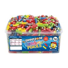 Sweetzone Rainbow Pencils Sweets Tub 960g
