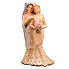 Wedding Figure 2 Brides - Cake Topper Couple Decoration Party 4cm x Woman -  wedding brides 2 figure cake topper couple decoration party 4cm x woman