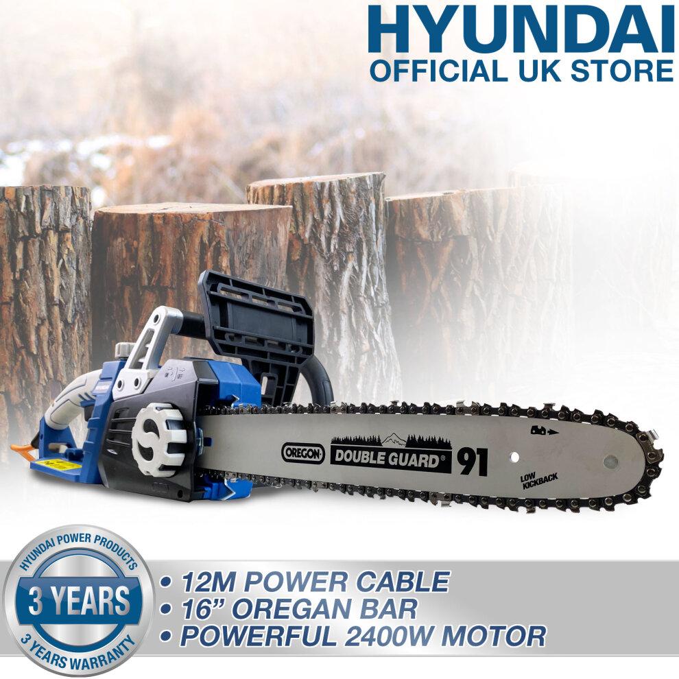 "Hyundai 2400W / 230V 16 Corded Electric Chainsaw - HYC2400E"""