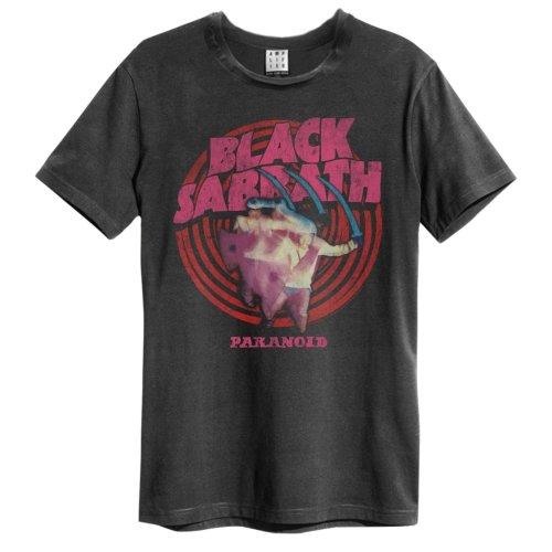 Black Sabbath 'Paranoid' (Charcoal) T-Shirt - Amplified Clothing