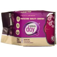 Genial Day 664708 Feminine Liner Anion Strip Absorbant - 18 Count