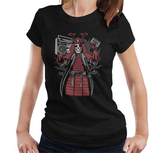 (Small) Samurai Boombox Women's T-Shirt