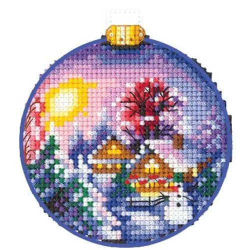 """Dimensions Counted Cross Stitch Kit 5.75/""""X2.25/""""-Ho Ho Ho Ornament 14 Count"""