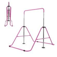 Kid Gymnastics Training Bar Child Home Gym Foldable Height Adjustable