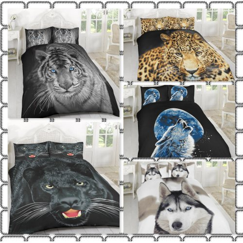 3D Design Animal Print Duvet Cover & Bedding Set With Pillowcases