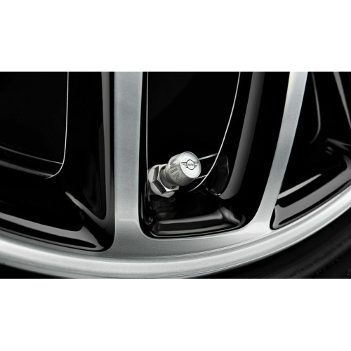 MINI Genuine Wings Logo Wheel Tyre Valve Stem Caps Set
