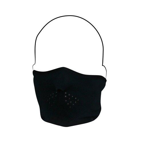 Black Microfleece Half Face Ski Mask - Black