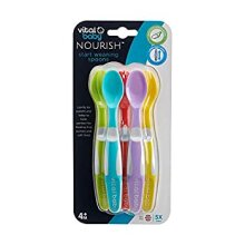 vital baby Nourish Start Weaning Spoons Flexible Soft Spoon Tips 5 Pack BPA Free Infant Spoons 4 Months+