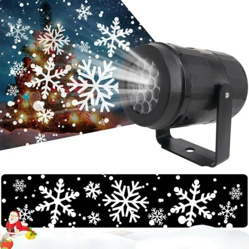 Christmas LED Moving Laser Snow Snowflake Xmas Party Projector Light