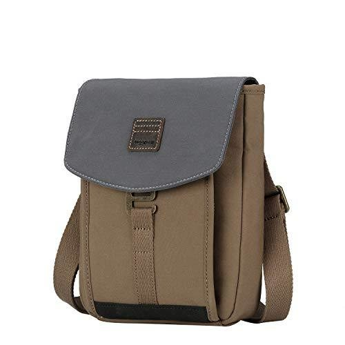 TRP0520 Troop London Heritage Light Weight Canvas Casual Crossbody Bag, Small Acrossbody Bag