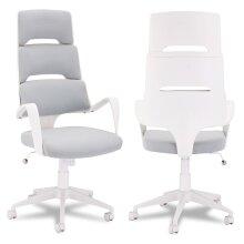 Furnhouse Office Chair Domo, White, Plastic Base, 62x63x128 cm
