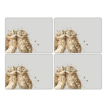 Wrendale Owl Placemats - Set of 4 (Large)