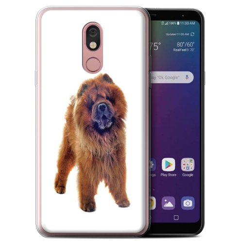 (Chow Chow) Dog Breeds LG Stylo 5 Phone Case Transparent Clear Ultra Soft Flexi Silicone Gel/TPU Bumper Cover for LG Stylo 5