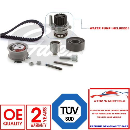 Gates Timing Cam Belt and Water Pump Kit for SKODA SUPERB 1.9 2.0 TDI