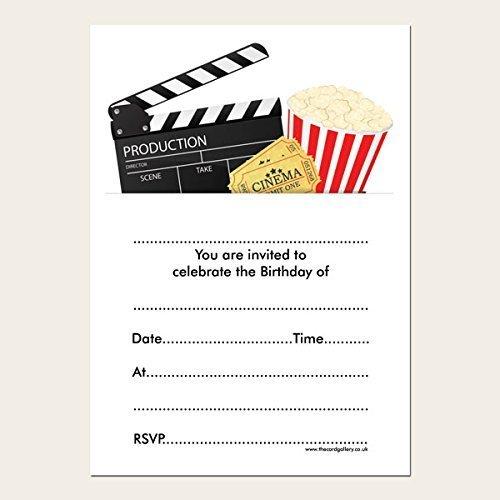 Kids Birthday Invitations - Cinema Party - Pack of 10