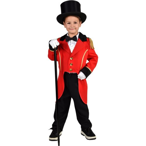 Kids Greatest Showman Costume Boys Ringmaster Fancy Dress Circus Tailcoat