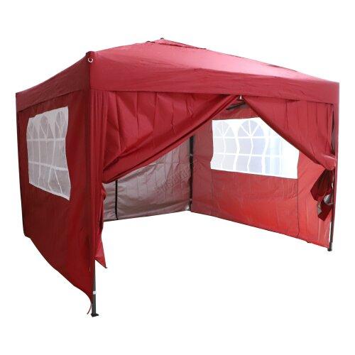 (Red) Birchtree Waterproof Pop Up Gazebo   Garden Party Tent - 3 x 3m