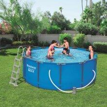 Bestway Steel Pro MAX Swimming Pool Set Round 366x122cm Garden Summer Water