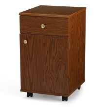 Suzi Sewing Storage Cabinet Oak Effect 14.25 x 16.5 x 24.5in