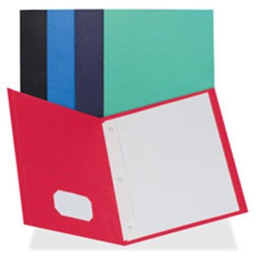 2-Pocket Folders, 100 Sh Cap, Ltr, 9.5 in. x 11 in., 25-BX, LBE