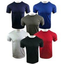 Mens T-Shirt Plain Round Neck 100% Cotton Hot Fit