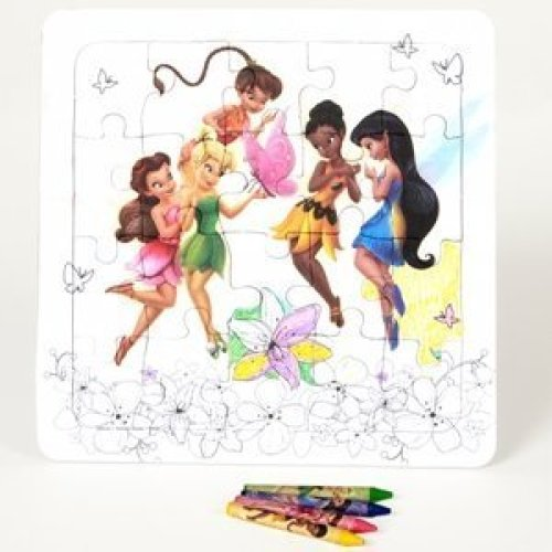 Tinker Bell Color Your Own Puzzle Party Accessory
