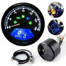 Motorcycle Gauge Digital LCD Tachometer Speedometer Odometer