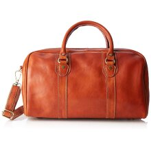 30x28x8 cm -  Duffel Original Leather Bag - Made in Italy