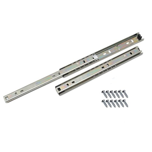 Ball bearing drawer runners groove slides, H-27mm  L-400mm (1 Pair)