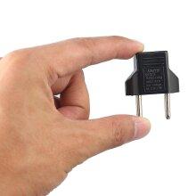 Eu Adapter Plug 2 Flat Pin To Eu 2 Round Pin Plug Socket Power Charger