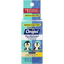 Orajel Baby Daytime & Nighttime Non-medicated Cooling Gels for Teething 2 Tubes 0.18 Oz Each