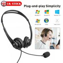 USB Call Center Headset Telephone Operator Headphone Computer PC Phones