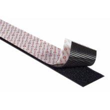 VELCRO® Brand Industrial Strength Velcro Heavy-Duty Stick On Self Adhesive Velcro Tape 5CM Wide, Black