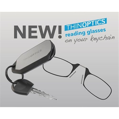 ThinOptics  THO-24203 ThinOptics Keychain Case With Readers  plus 2.5 - Black