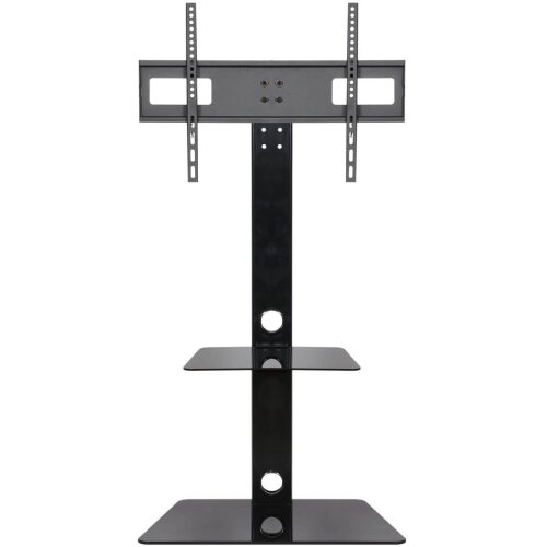 Mountright CK001 Cantilever TV Stand with Fixed Bracket In Black Television Unit for Screens 27 to 60 Inch | One Shelf