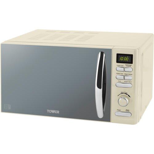 Tower T24019C 20 Litre Microwave - Cream