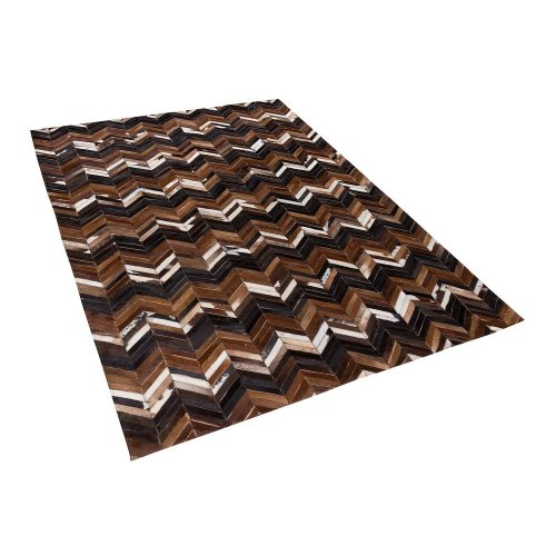 Area Rug 160 x 230 cm Leather Brown BALAT
