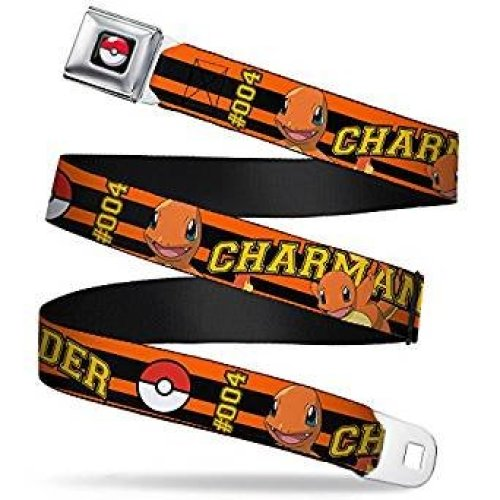 Seatbelt Belt - Pokemon - V.94 Adj 24-38' Mesh New pka-wpk159