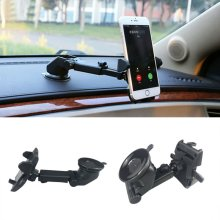 360° Rotatable In Car Suction Phone Holder Dashboard Windscreen Mount