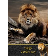 """Lion Father's Day Greeting Card 8""""x5.5"""""""