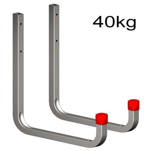 2 x 250mm Extra Large Storage Wall Hooks 40kg Galvanised Steel, Ladders & Tools