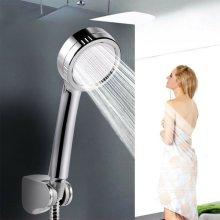 Water Shower Head Super Low Pressure Boosting Bath Saving Pinhole Abs Chrome jet