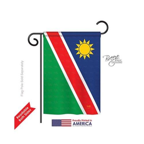 Breeze Decor 58364 Namibia 2-Sided Impression Garden Flag - 13 x 18.5 in.