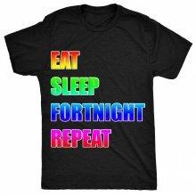 8TN eat sleep fortnight repeat parody Unisex-children T Shirt