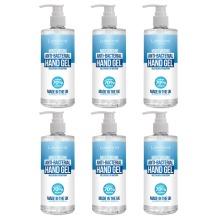 Hand Sanitiser Gel 6x 500ml with pump bottle - 70% Alcohol Medical Grade - Anti-Bacterial Hand Hygiene Gel Rub, sanitizer