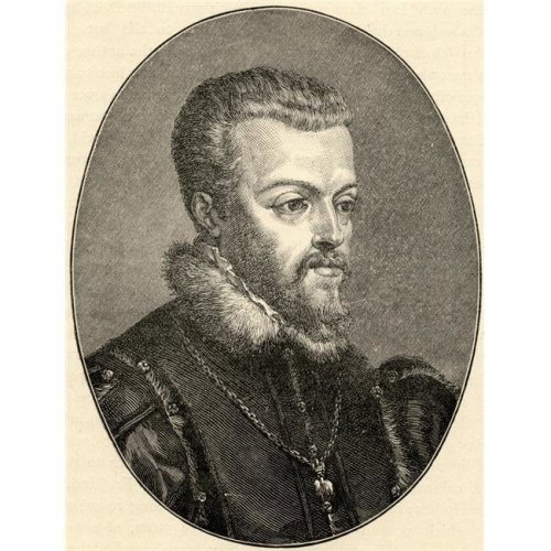 Philip II 1527-1598. King of Spain From The Portrait by Titian Poster Print, Large - 26 x 34