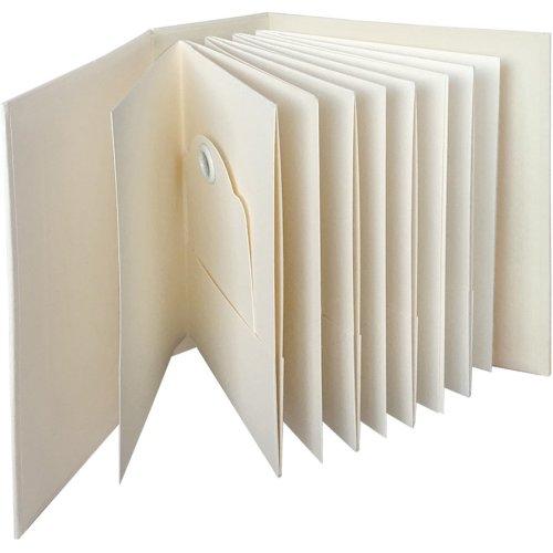 "Graphic 45 Staples Atc Tag & Pocket Album 6""X8""X3""-Ivory Rectangle"