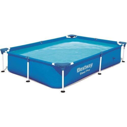 Bestway Rectangular Frame Swimming Pool, Steel Pro, 7.3 ft