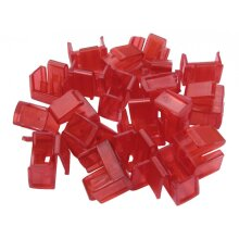 RJ45 Ethernet Network Port Blockers Pack - 20 Locks Set (No Removal Key) - Red