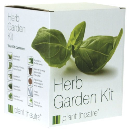 Plant Theatre Herb Garden Seed Kit | Gift Box of 6 Different Herbs to Grow